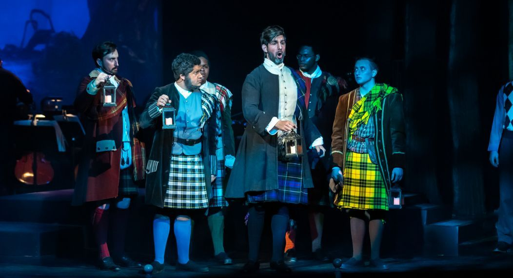 "opera theatre performance of Learner and Loewe's musical ""Brigadoon"""